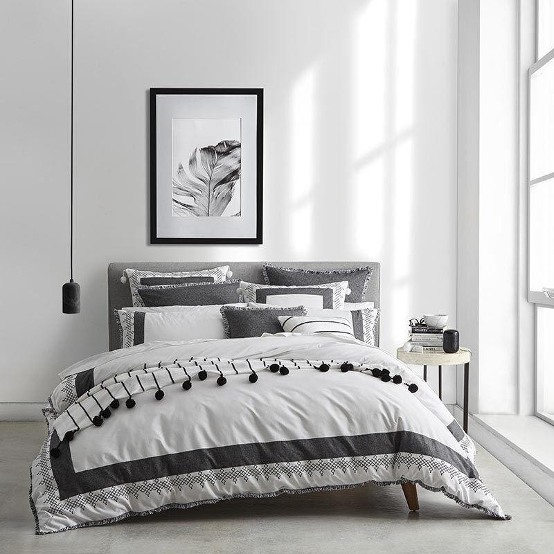 private collection pompeii granite king size bed doona duvet quilt cover set ebay. Black Bedroom Furniture Sets. Home Design Ideas