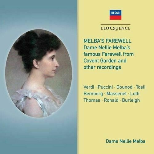 DAME NELLIE MELBA Melba's Farewell CD NEW Covent Gardens And Other Recordings