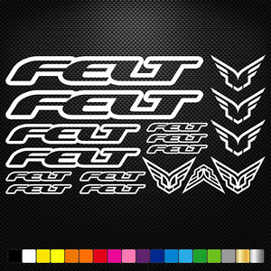 Felt Vinyl Decals Stickers Sheet Bike Frame Cycle Cycling Bicycle Mtb Road