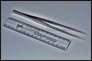 Long-Stainless-Steel-Tweezers-Smooth-Tip-Clockmakers-Hobby-Tools-7-034-18-Cm-Long