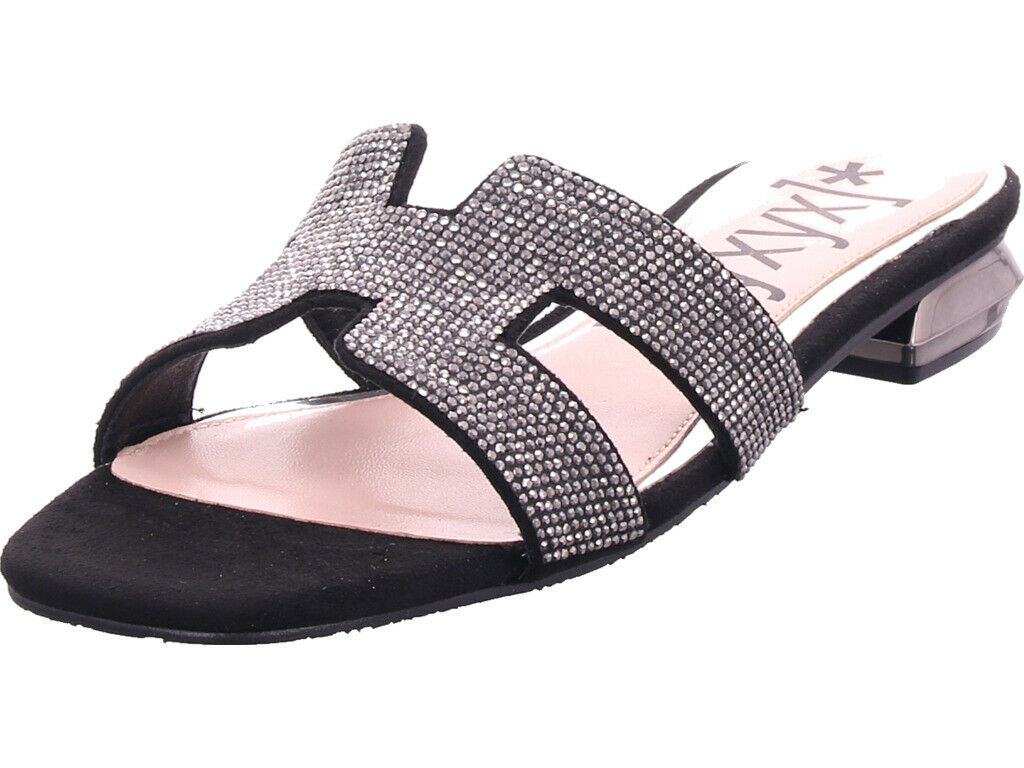 Xyxyx Femmes Mules Sandales Chaussons Noir
