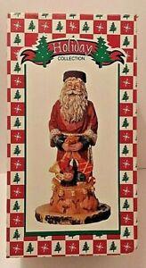 Holiday-Collection-Santa-Claus-figurine-w-toys-10-034-tall-Christmas-figure-Decor