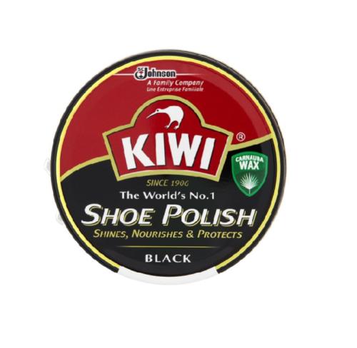 Kiwi Black Shoe Polish 50 ML Leather Boot Protector Shines Protects Nourishes