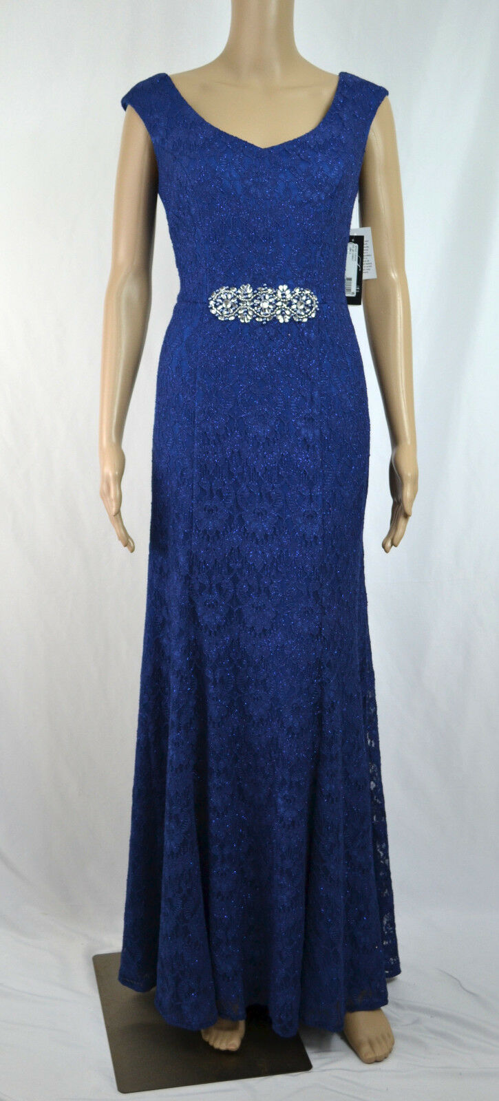 Alex Evenings NEW Blau Woherren Größe 6 Shimmer Lace Sheath Dress
