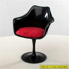 1: 6 large black and red tulip chairs dollhouse accessories 6 points