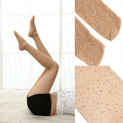 Sexy Fishnet Net Lace High Thigh Over Knees Pantyhose Crystal Tights Stockings