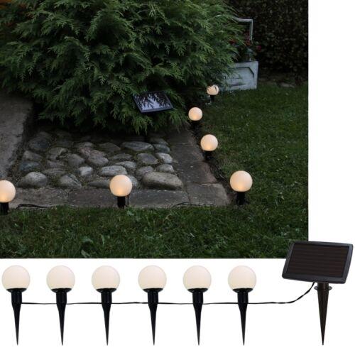 "LED Solar Lichterkette /""BallsCombo/"" mit 6 Kugeln ca 7m hängen oder stecken"