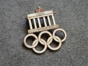 Germany-Summer-Olympic-Games-1936-Berlin-Original-Visitors-Badge-Maker-Aurich