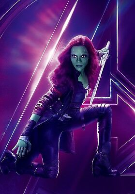 Avengers Infinity War Textless Character Poster Gamora Zoe Saldana Ebay