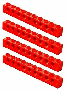 Missing lego brique rouge 2730 x 4 technic brick 1 x 10 avec trous 							 							</span>