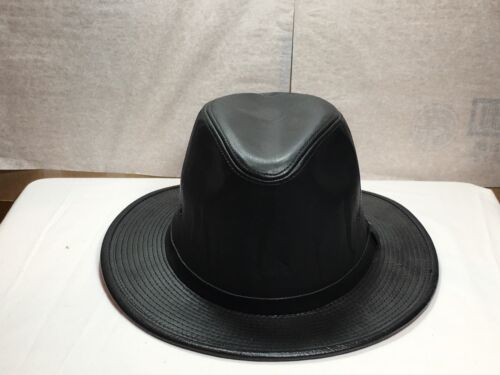 New  Mens Henschel Leather Safari Hat with Tag made in USA
