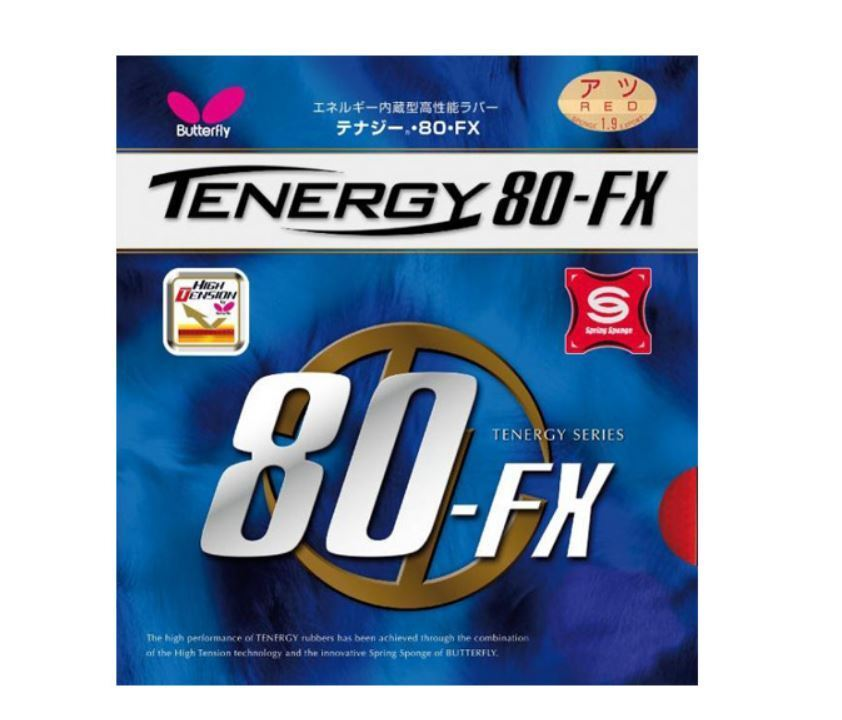 Butterfly Tenergy 80FX Table Tennis, Ping Pong Rubber Sponge