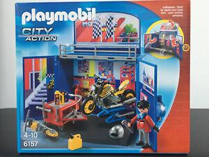 Playmobil-City-Action-6157-Motorradwerkstatt-NEU-amp-OVP