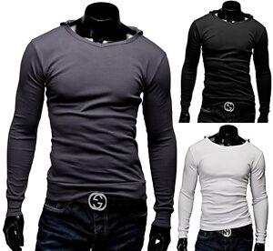 herren longsleeve langarmshirt sweatshirt t shirt kapuze v. Black Bedroom Furniture Sets. Home Design Ideas
