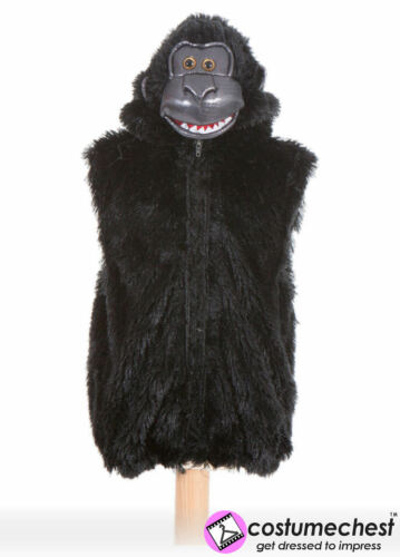 Childrens Girls Boys Gorilla Zip Top Costume by Pretend To Bee