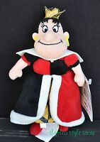 Queen Of Hearts Bean Bag Villain Alice In Wonderland Toy Plush Disney Store Tag