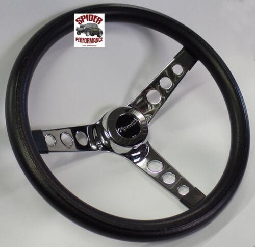 "1961-1966 Belvedere Valiant Fury steering wheel PLYMOUTH 13 1//2/"" CLASSIC CHROME"