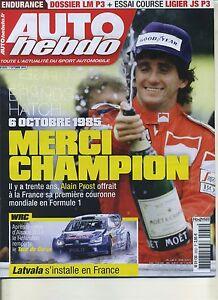 AUTO HEBDO n°2032 07/10/2015 Dossier LMP3 Essai Ligier JSP3 WRC CORSE - France - État : Trs bon état : Livre qui ne semble pas neuf, ayant déj été lu, mais qui est toujours en excellent état. La couverture ne présente aucun dommage apparent. Pour les couvertures rigides, la jaquette (si applicable) est incluse. Aucune  - France