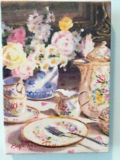 """Bette Rowe Pallos Canvas Transfer Painting """"French Chocolate"""" 5""""x7"""""""
