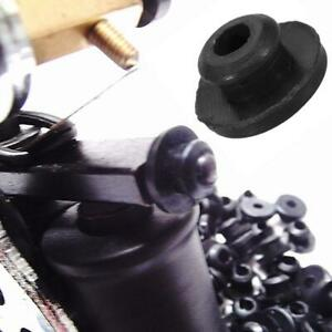 100-x-Black-TATTOO-Needle-Rubber-Grommets-Nipples-New-O8S1