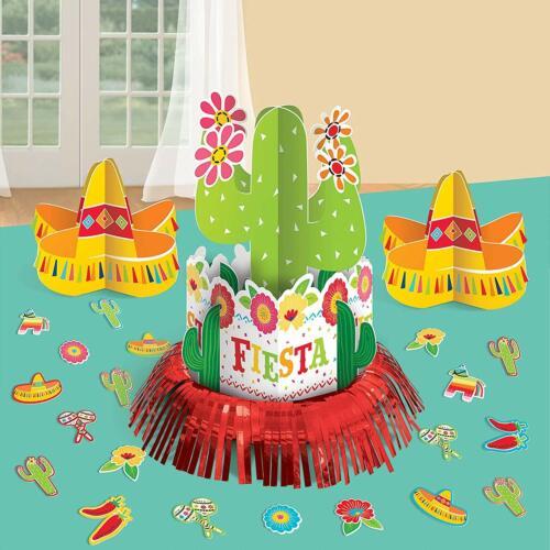 FIESTA TABLE PARTY DECORATIONS Taco Centerpiece Room Sombrero Feast Food Truck
