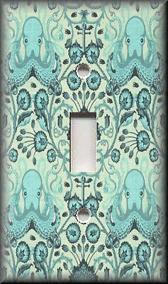 Switch Plates And Outlet Covers - Octopus - Blue - Beach House Home Decor