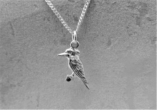 "Sterling Silver (925)  Solid 3D Charm ""Kookaburra"""