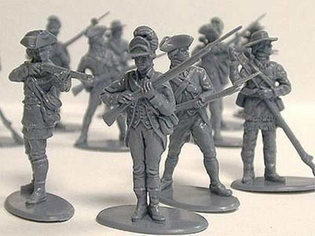CALL TO ARMS American Revolution Maryland Infantry 16 Toy Soldiers FREE SHIP