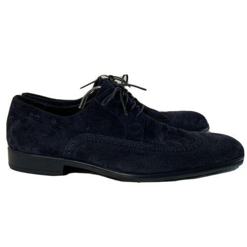 Hugo Boss Blue Suede Shoes