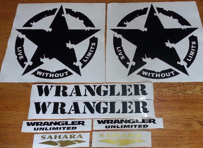 Graphics stickers decals for all models of Jeeps SUV 4x4