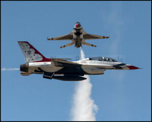 USAF-F-16-Thunderbirds-Crossover-Pass-Fairchild-2017-8x10-Photos