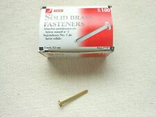 """Acco 1/"""" Solid Brass Fasteners #4 size 100 Count Model 71504"""