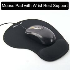 Soft Gaming memory foam mouse pad mat with wrist rest black by handstands for PC