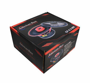 "One American Bass GF65MR 6.5"" Red Coaxial Hybrid Midrange X1 Full Range 120 watt"