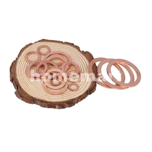 NEW HQ Flat Washer Copper Crush Washers Gasket Seal Ring M5-M48 Thick 1-1.5-2mm