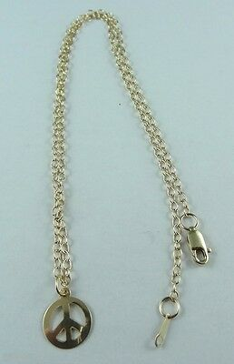 Peace Sign Pendant Necklace Chain 14k Gold Filled Quality AUS STOCK