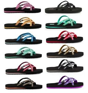 Teva-Olowahu-6840-Women-039-s-Thong-Flip-Flops-Sandals-Sizes-5-6-7-8-9-10-11-12