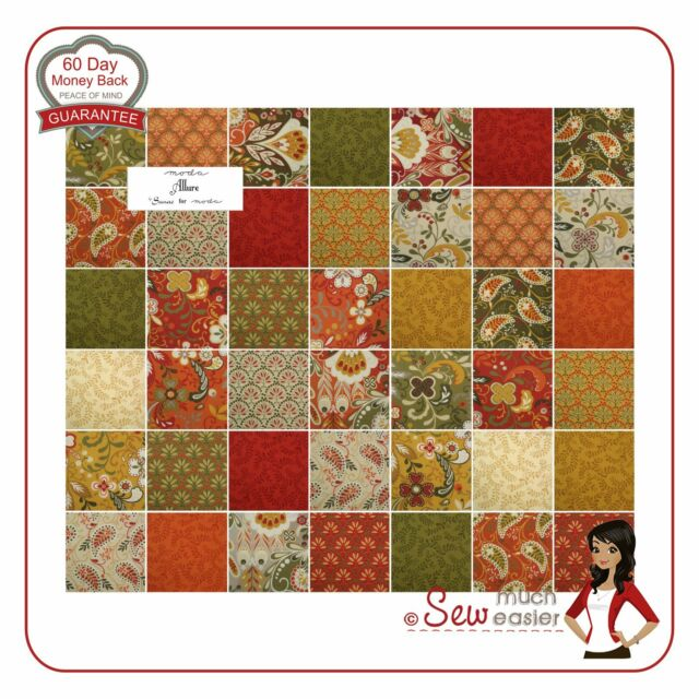 Moda Allure Charm Pack Squares flora Fabric paisley autumn fabrics retro modern