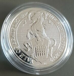 2oz-OUNCE-FINE-999-SILVER-2019-QUEENS-BEAST-YALE-COIN-NEW-IN-CAPSULE