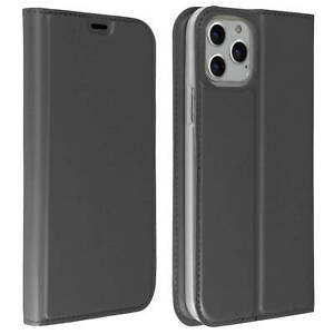 Slim-flip-wallet-case-Business-series-for-Apple-iPhone-11-Pro-Max-Grey