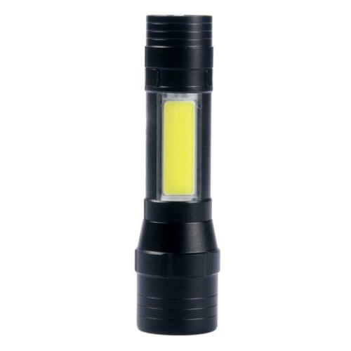 4-Mode Flashlight LED T6 Telescopic Zoom USB Rechargeable Torch Outdoor 18650 JG