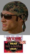 DIGITAL ARMY GREEN CAMO Camouflage FITTED TIED BANDANA Head Skull Cap DOO DO Rag