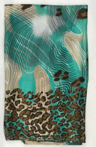 LEOPARD Stripe Print Satin Large Maxi Beach Sarong Hijab Head Hijab Scarf