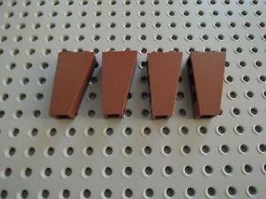 Lego 4 x Schrägstein Dachstein 2449 2x1x3 negativ schwarz