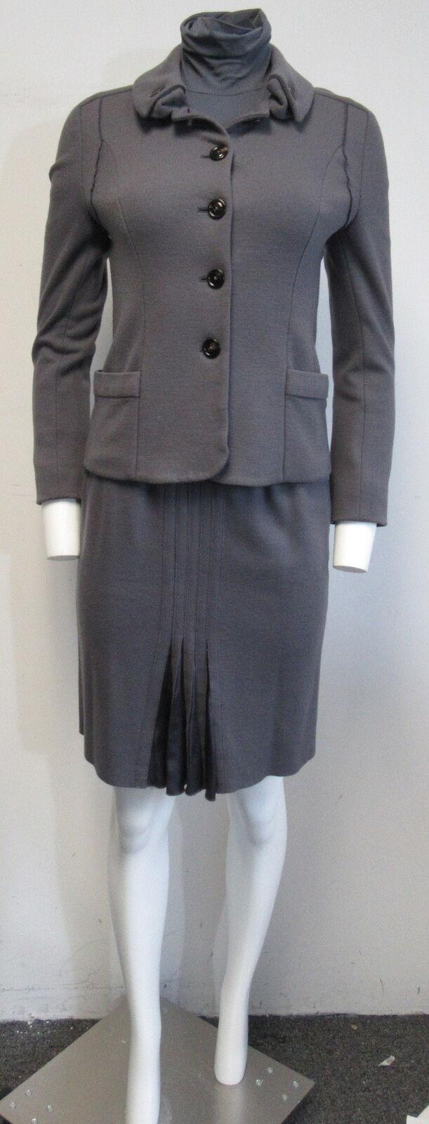 MARCCAIN purple wool cashmere 3 PC skirt suit SZ N1-N2 US  2-4 STUNNING