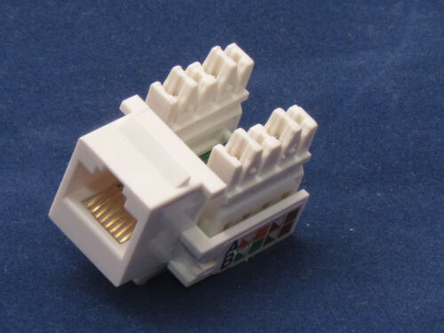 10 X Keystone Jack CAT5e Network Ethernet 110 Style Punch Down 8P8C RJ45 White