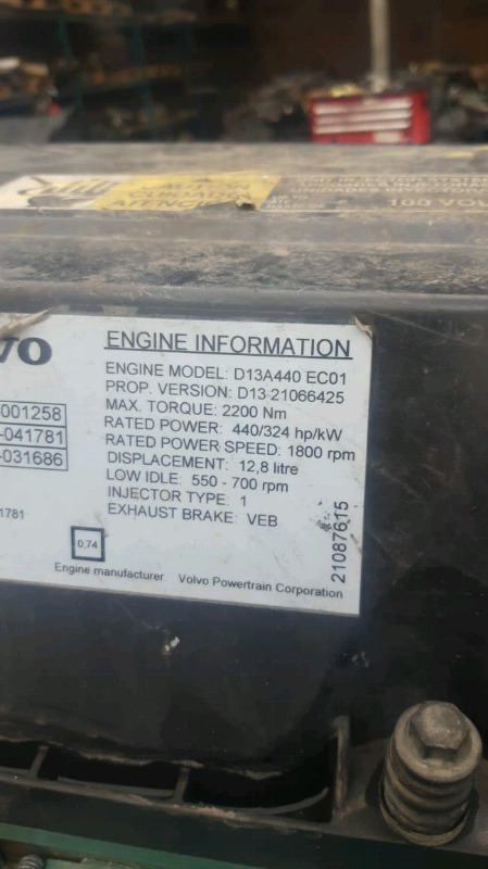 Volvo,Renault&UD D13 engines,gearboxes for sale | Boksburg