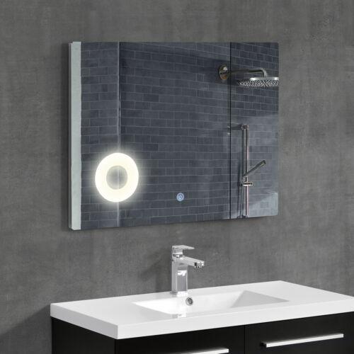 neu.haus ® Espejo de baño LED de pared con espejo de aumento 60 x 120cm