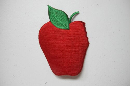 """#4159 3-3//4/"""" Fruit Apple Embroidery Iron On Applique Patch"""