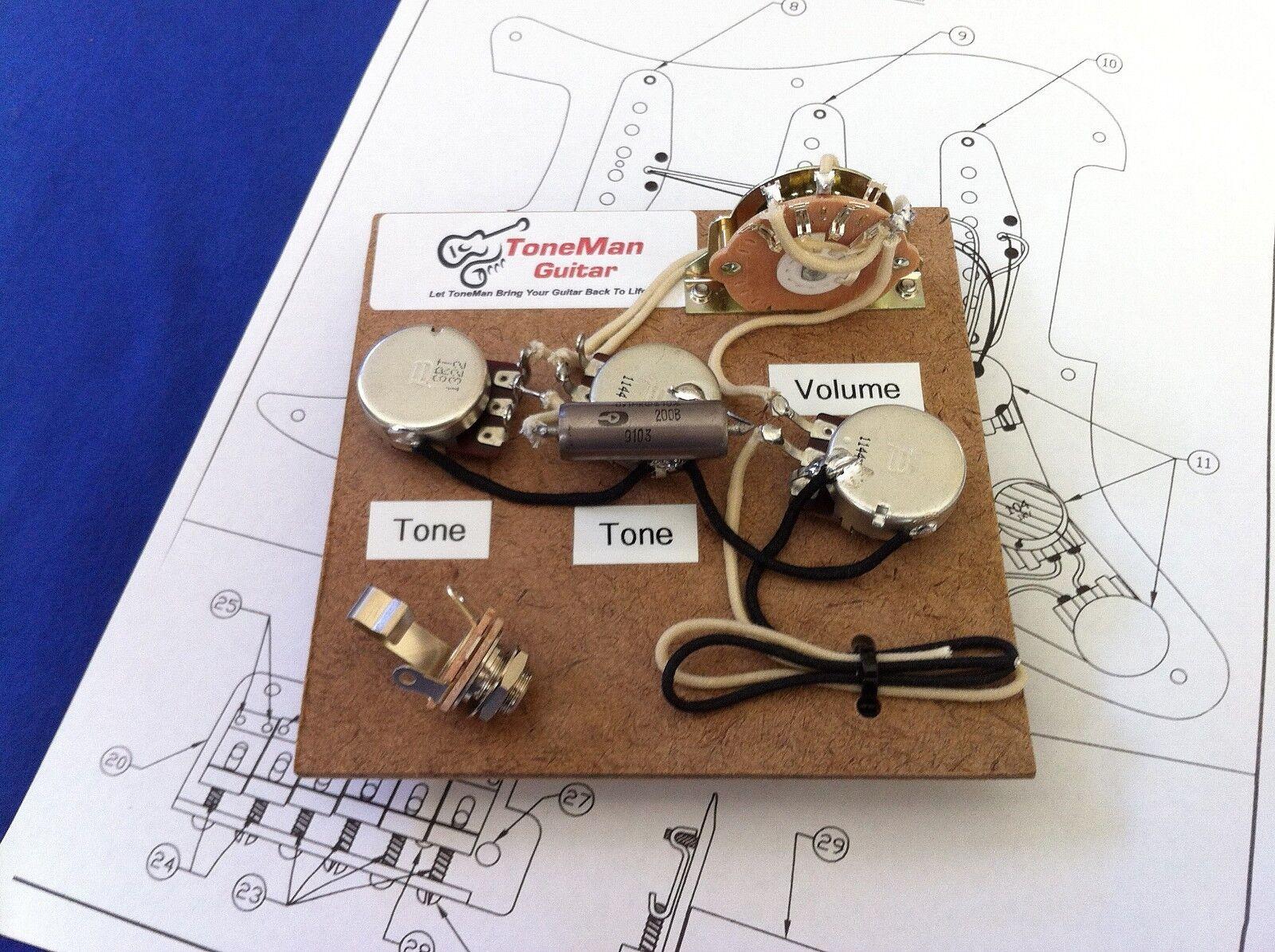 Prewirot Upgrade Wiring Harness Eric Johnson Wiring For Fender Strat PIO Cap
